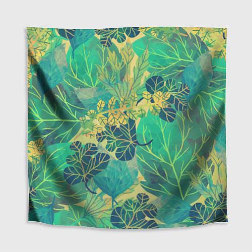 Скатерть для стола Узор из листьев / 3D – фото 1
