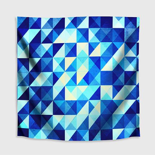 Скатерть для стола Синяя геометрия / 3D – фото 1