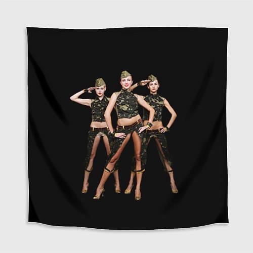 Скатерть для стола Армейские девушки / 3D – фото 1
