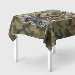 Скатерть для стола Армия России: ярость медведя цвета 3D — фото 2