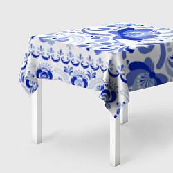 Скатерть для стола Гжель 2 цвета 3D — фото 2
