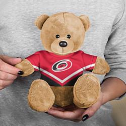 Игрушка-медвежонок NHL: Carolina Hurricanes цвета 3D-коричневый — фото 2