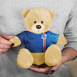 Игрушка-медвежонок Сборная Исландии по футболу цвета 3D-желтый — фото 2