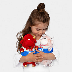 Игрушка-бычок Russia: from 31 цвета 3D-светло-розовый — фото 2