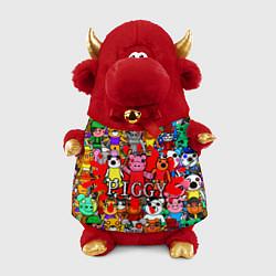 Игрушка-бычок ROBLOX PIGGY цвета 3D-красный — фото 1