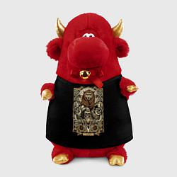 Игрушка-бычок Лев цвета 3D-красный — фото 1
