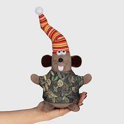 Игрушка-мышка Тропический камуфляж цвета 3D-серый — фото 1