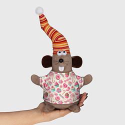 Игрушка-мышка Радости для сладости цвета 3D-серый — фото 1