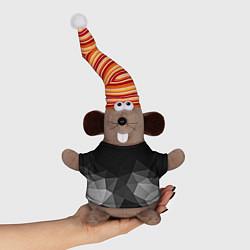Игрушка-мышка Abstract gray цвета 3D-серый — фото 1