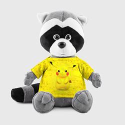 Игрушка-енот Pikachu цвета 3D-серый — фото 1