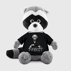 Игрушка-енот T-Fest: Black Style цвета 3D-серый — фото 1