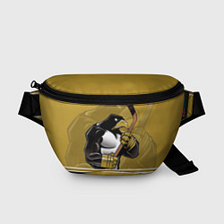 Поясная сумка Pittsburgh Penguins цвета 3D-принт — фото 1