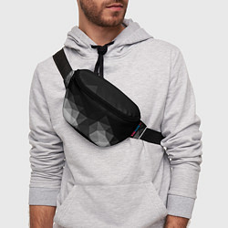 Поясная сумка Abstract gray цвета 3D — фото 2