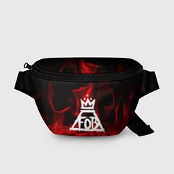 Поясная сумка Fall Out Boy: Red Flame цвета 3D — фото 1