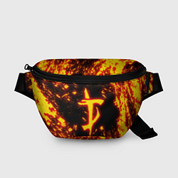 Поясная сумка DOOM: The Crucible цвета 3D-принт — фото 1