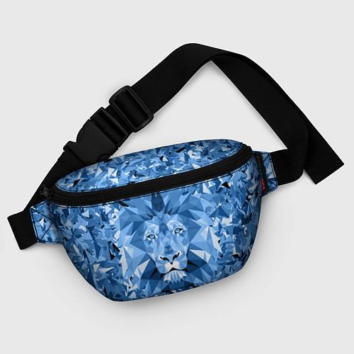 Поясная сумка Сине-бело-голубой лев / 3D – фото 4