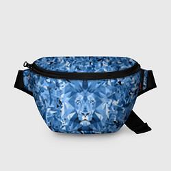 Поясная сумка Сине-бело-голубой лев
