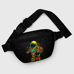 Поясная сумка Космонавт с кальяном цвета 3D-принт — фото 2