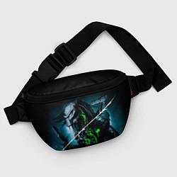 Поясная сумка PREDATOR цвета 3D-принт — фото 2