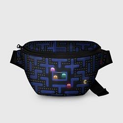 Поясная сумка Pacman цвета 3D-принт — фото 1