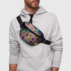 Поясная сумка Among Us Чёрная дыра цвета 3D — фото 2