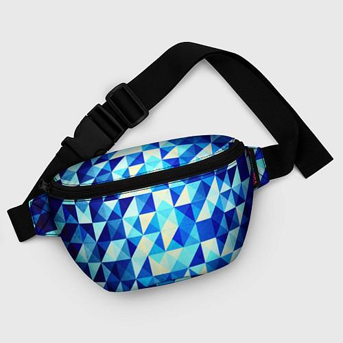 Поясная сумка Синяя геометрия / 3D – фото 4