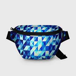 Поясная сумка Синяя геометрия