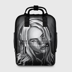 Женский городской рюкзак с принтом BILLIE EILISH, цвет: 3D, артикул: 10201691705839 — фото 1