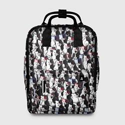 Рюкзак женский Черно-белые медведи цвета 3D-принт — фото 1