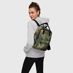 Рюкзак женский Полигональный камуфляж цвета 3D — фото 2