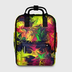 Рюкзак женский Кислотный взрыв цвета 3D — фото 1