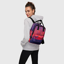 Рюкзак женский Абстракция цвета 3D — фото 2