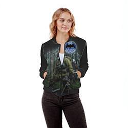 Бомбер женский Военная разведка цвета 3D-черный — фото 2
