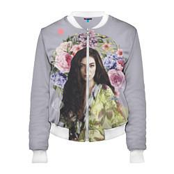 Бомбер женский Lorde Floral цвета 3D-белый — фото 1