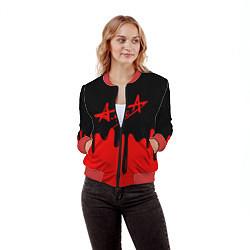 Бомбер женский АлисА цвета 3D-красный — фото 2