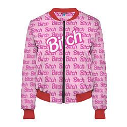 Бомбер женский Bitch Barbie цвета 3D-красный — фото 1