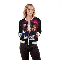 Бомбер женский Muse Band цвета 3D-белый — фото 2
