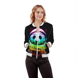 Бомбер женский Панда космонавт цвета 3D-белый — фото 2