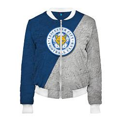 Бомбер женский Leicester City FC цвета 3D-белый — фото 1