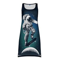 Туника женская Космический скейтбординг цвета 3D — фото 1