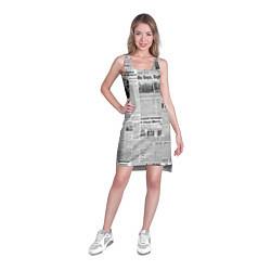 Туника женская Газета Newspaper цвета 3D — фото 2