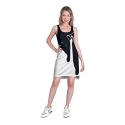 Туника женская Черно-белый цвета 3D — фото 2