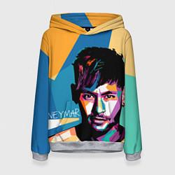 Толстовка-худи женская Neymar Polygons цвета 3D-меланж — фото 1