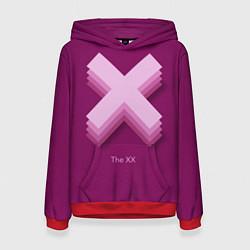 Толстовка-худи женская The XX: Purple цвета 3D-красный — фото 1