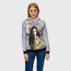 Толстовка-худи женская Lorde Floral цвета 3D-черный — фото 2