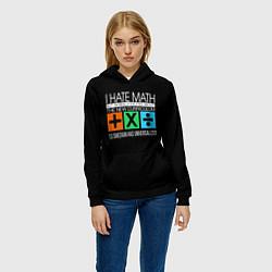 Толстовка-худи женская Ed Sheeran: I hate math цвета 3D-черный — фото 2