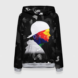Толстовка-худи женская Avicii: Stories цвета 3D-меланж — фото 1