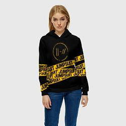 Толстовка-худи женская Twenty One Pilots: Jumpsuit цвета 3D-черный — фото 2