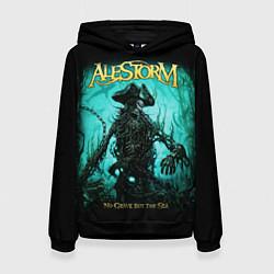 Толстовка-худи женская Alestorm: Death Pirate цвета 3D-черный — фото 1