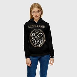 Толстовка-худи женская Meshuggah цвета 3D-черный — фото 2